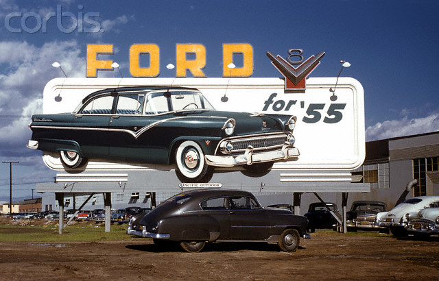 1955 Ford Billboard Ad 15 Jan 1955 Los Angeles