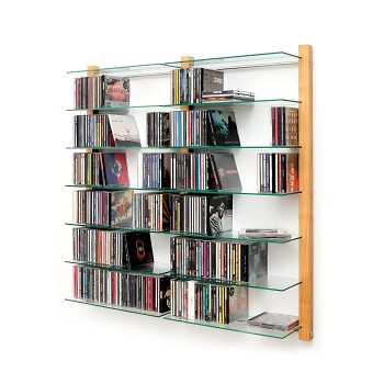 cd rack storay walnut tree cd regal nussbaum wall. Black Bedroom Furniture Sets. Home Design Ideas
