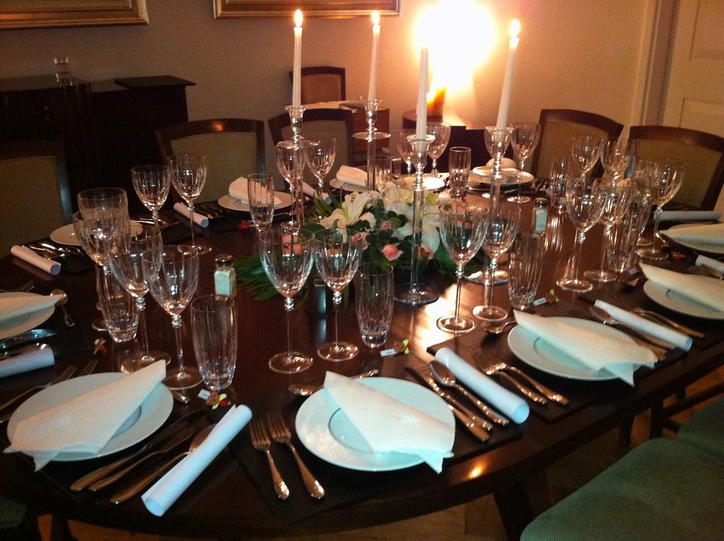 Dinner Table Set For Dinner Party Dinner Table For
