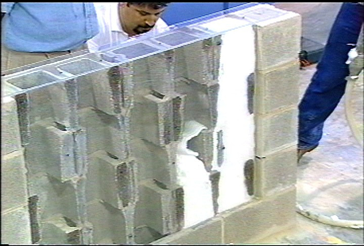 Core Foam Masonry Foam Insulation 174 Application Cfi Foam
