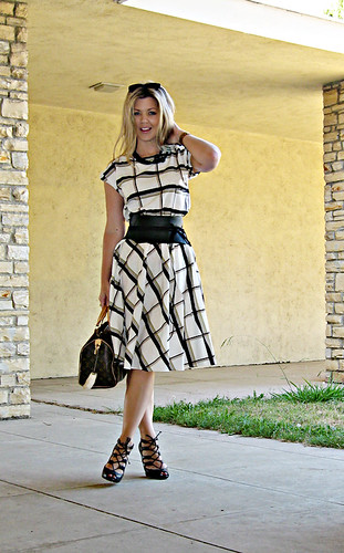 vintage plaid day dress with wide leather obit wrap belt | by ...love Maegan