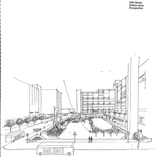 Mission District Urban Design Study: 24th Street Station Area Perspective (1966) | by Eric Fischer