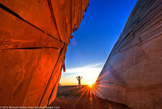Greeting the Sun, Temple of Flux, Burning Man 2010 | by Michael Holden