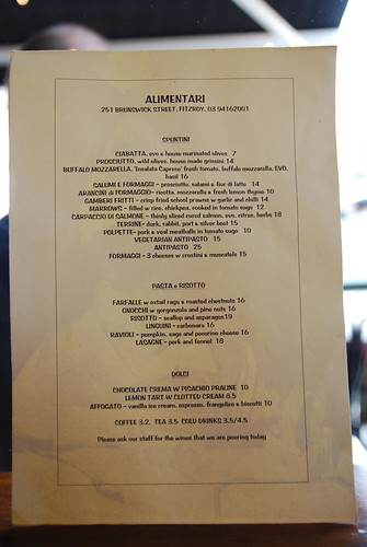 Cafe Veda Menu