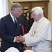 With Pope Benedict XVI at the Vatican