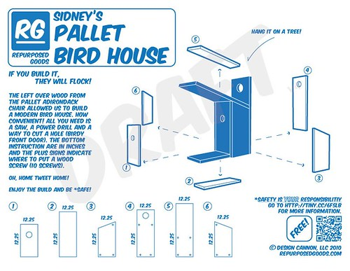 Repurposed Goods: DRAFT of Sidney's Pallet Birdhouse | Flickr