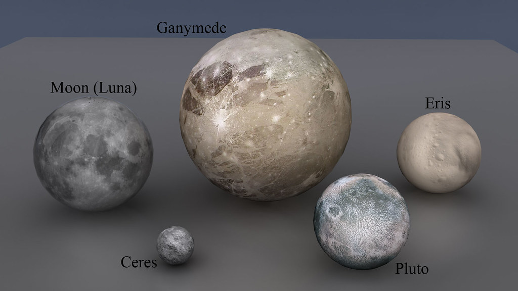 Plutón y Eris - Comparación de tamaños (NASA) | Banco de ...