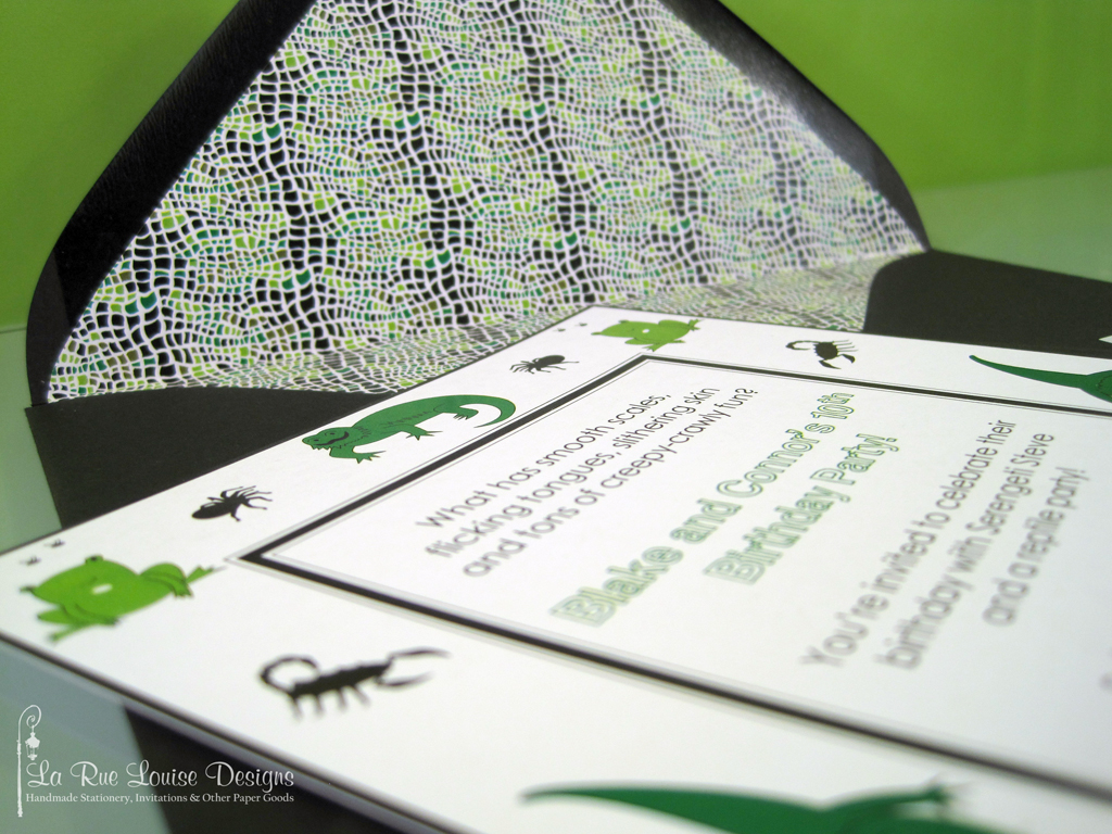 Reptile Birthday Party Invitations Jessica Knobeloch Flickr
