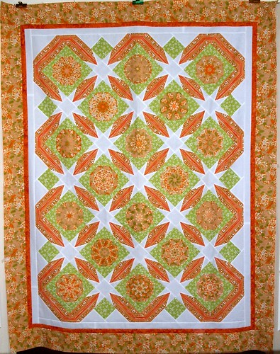 T-Peachy Green | by Linda Rotz Miller Quilts & Quilt Tops