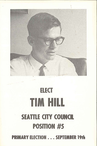 Tim Hill campaign brochure, 1967   Hill was on City ...