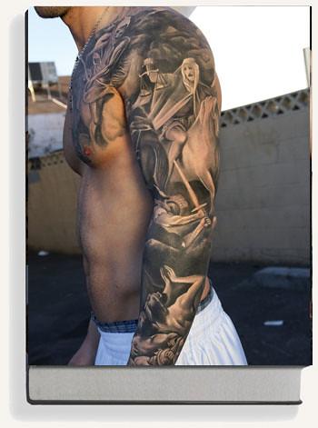 Black Amp Grey Tattoo Art By Marisa Kakoulas Amp Edgar Hoill Flickr