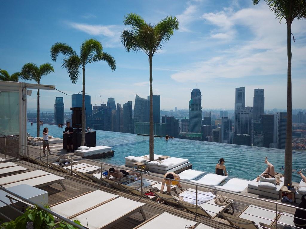 The Marina Bay Sands resort swimming pool Mike Scott Flickr