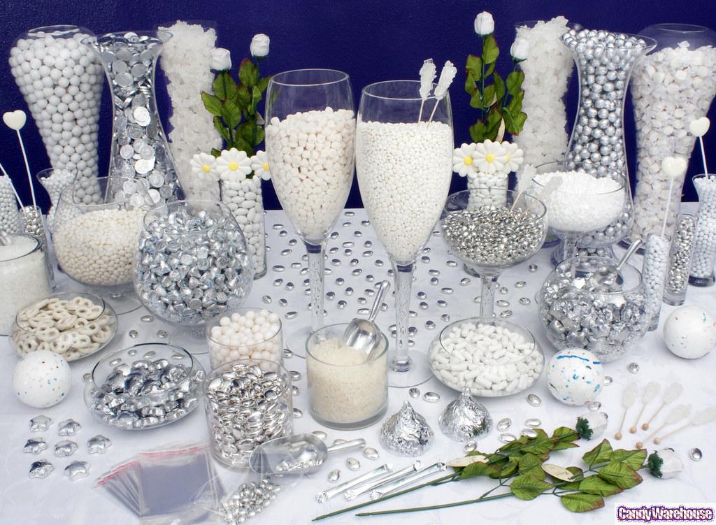 Silver Wedding Cake Tableau