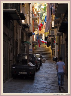 Naples : Typical street Montesanto - | by Pantchoa