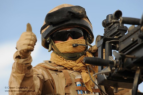Soldier Gives Thumbs Up | by Defence Images