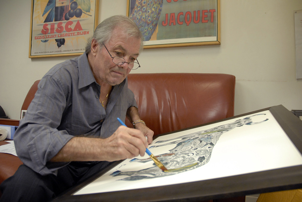 Jacques Pepin painting at KQED | Jacques Pepin at KQED in ...