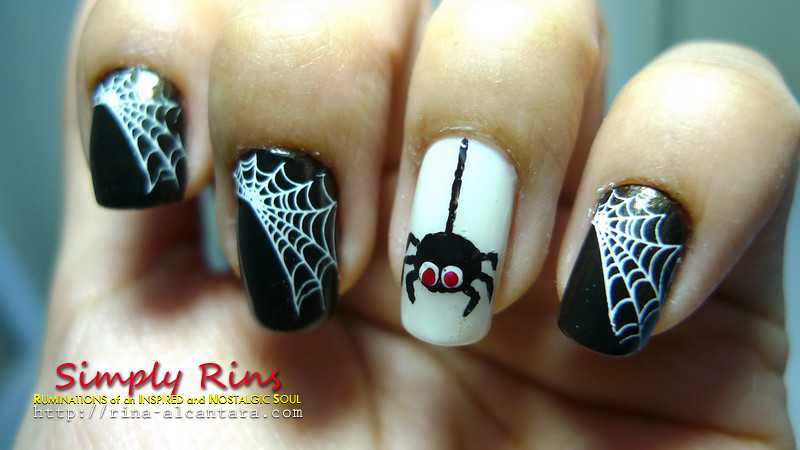 ... nail art halloween spiders 03 | by Simply Rins - Nail Art Halloween Spiders 03 Rina Alcantara Flickr