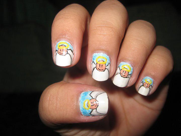 Nail Art Design Angel Katikuykuy Flickr