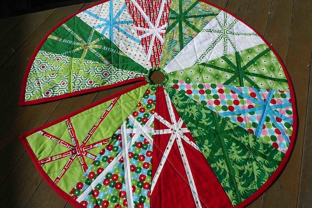 The finished christmas tree skirt flickr photo sharing