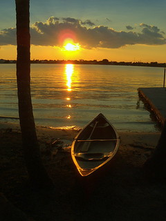 Canoe at sunset | by Blessed Lindy