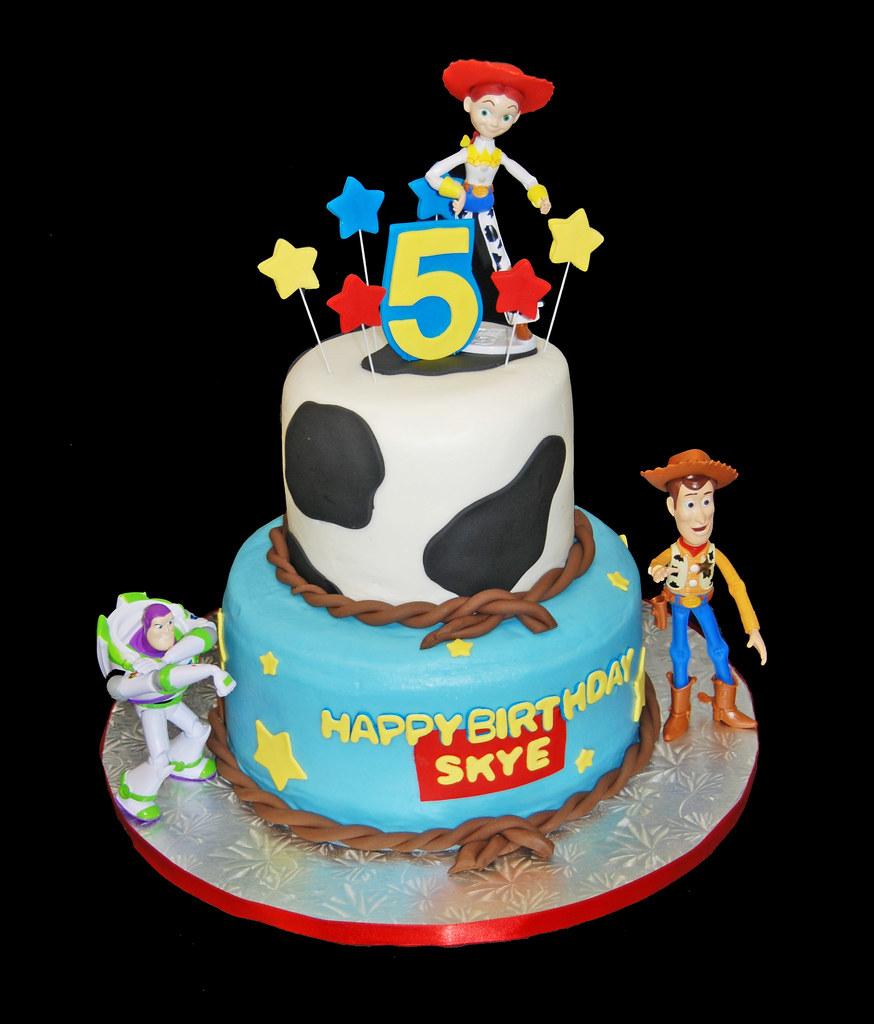 Toy Story Cakes For Boys : Th birthday cow print and stars tiered cake with toy st
