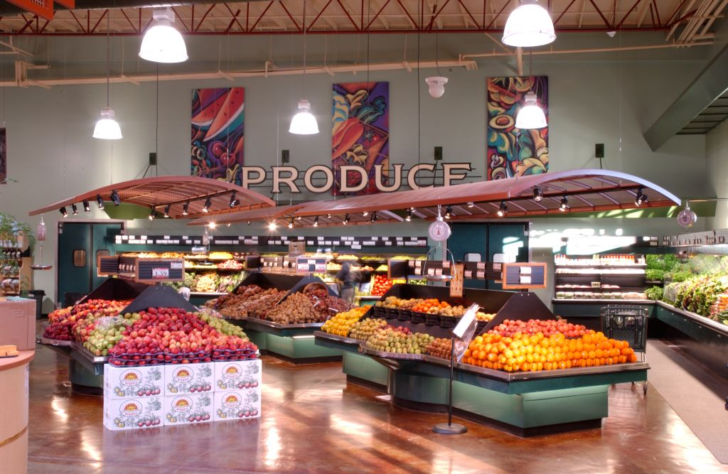 Grocery Store Interior Signage Market Produce Area Upgra