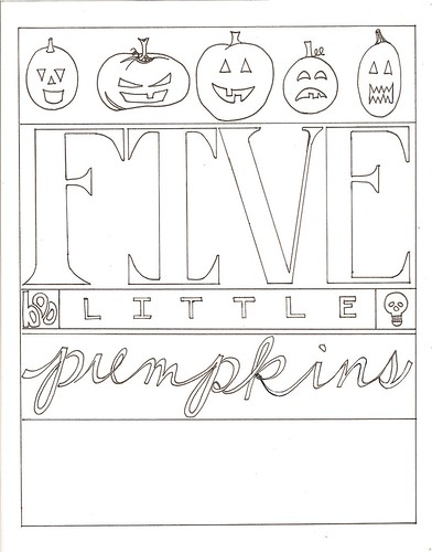 Five little pumpkins color your own feel free to for 5 little pumpkins coloring page