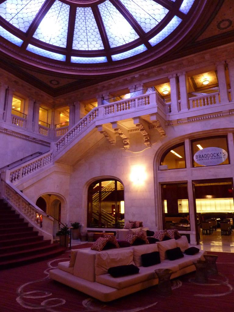 lobby stairway at the renaissance pittsburgh