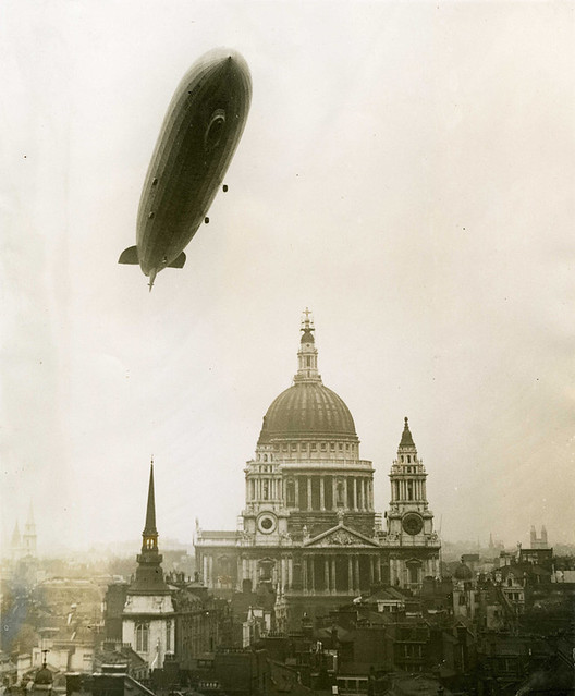 Zeppelin above St Paul's