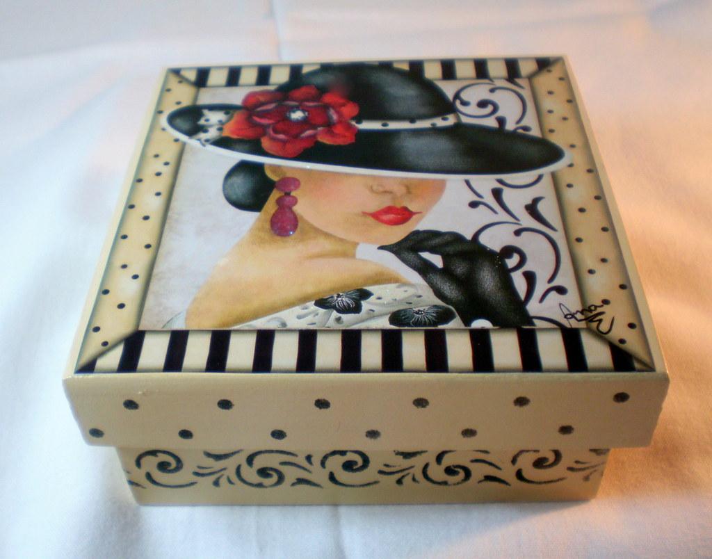 Caixa para sabonete caixa mdf com decoupage pintura for Pintura para decoupage