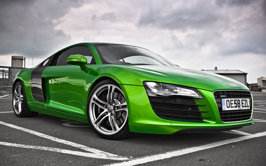 Green R8 Its An Audi R8 And Its Lime Green I Think