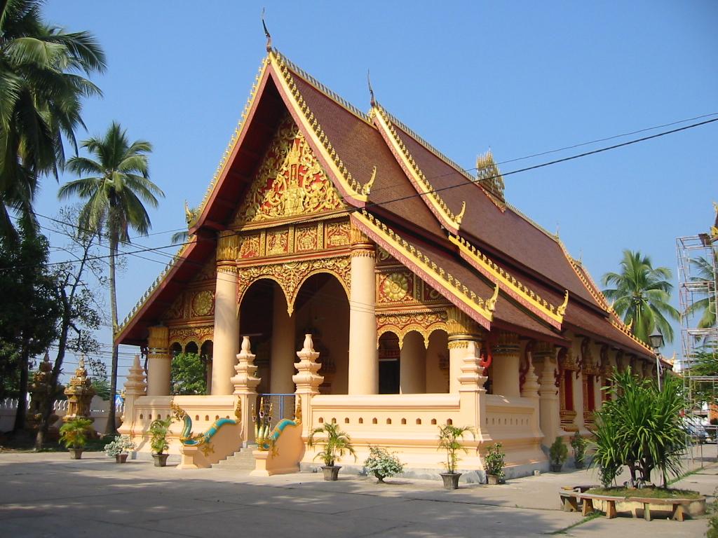 Wat Ong Teu Mahawihan Vientiane Pigalle Flickr