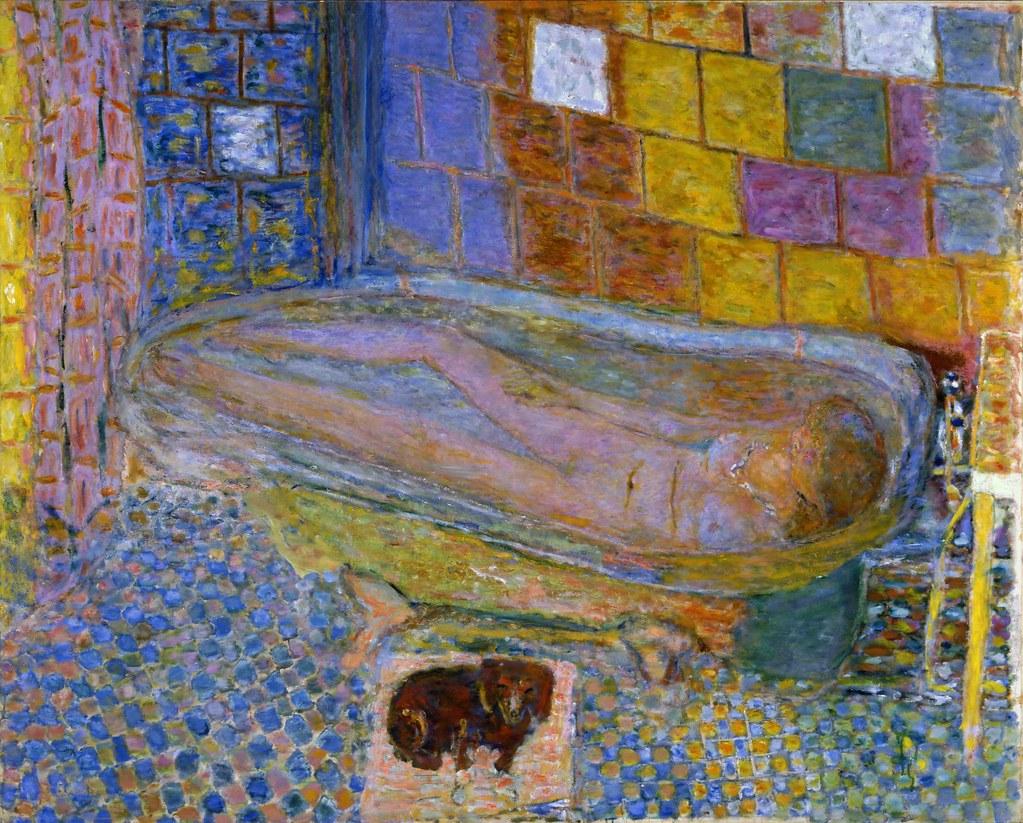 Nude in Bathtub | One of his last works, Bonnard painted