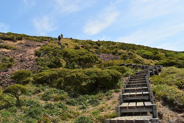 韓国岳 ラストの階段
