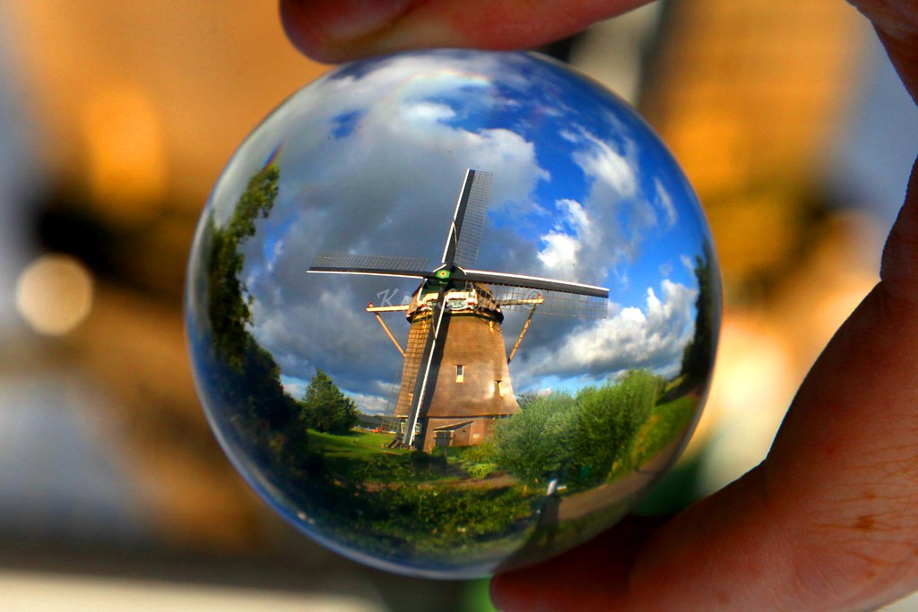 a dutch windmill amsterdam � the netherlands crystal bal
