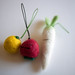 Needle felt vegetable phone straps