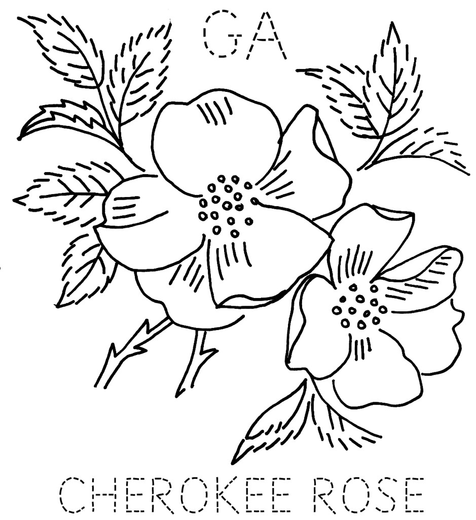 Georgia Cherokee Rose To Download The 6 Inch Block Size