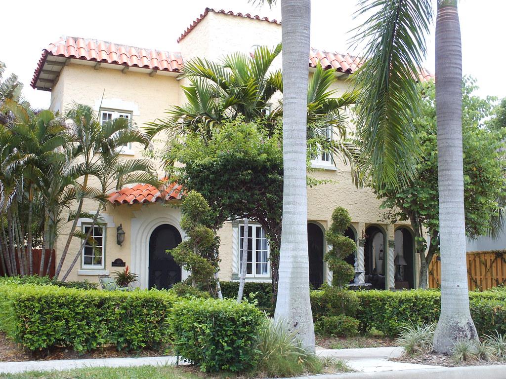 West palm beach spanish colonial revival mediterranean sty for Mediterranean style modular homes