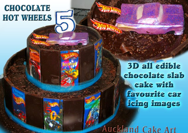 Peachy Chocolate Hot Wheels Birthday Cake Handmade Glittered Mini Flickr Funny Birthday Cards Online Chimdamsfinfo