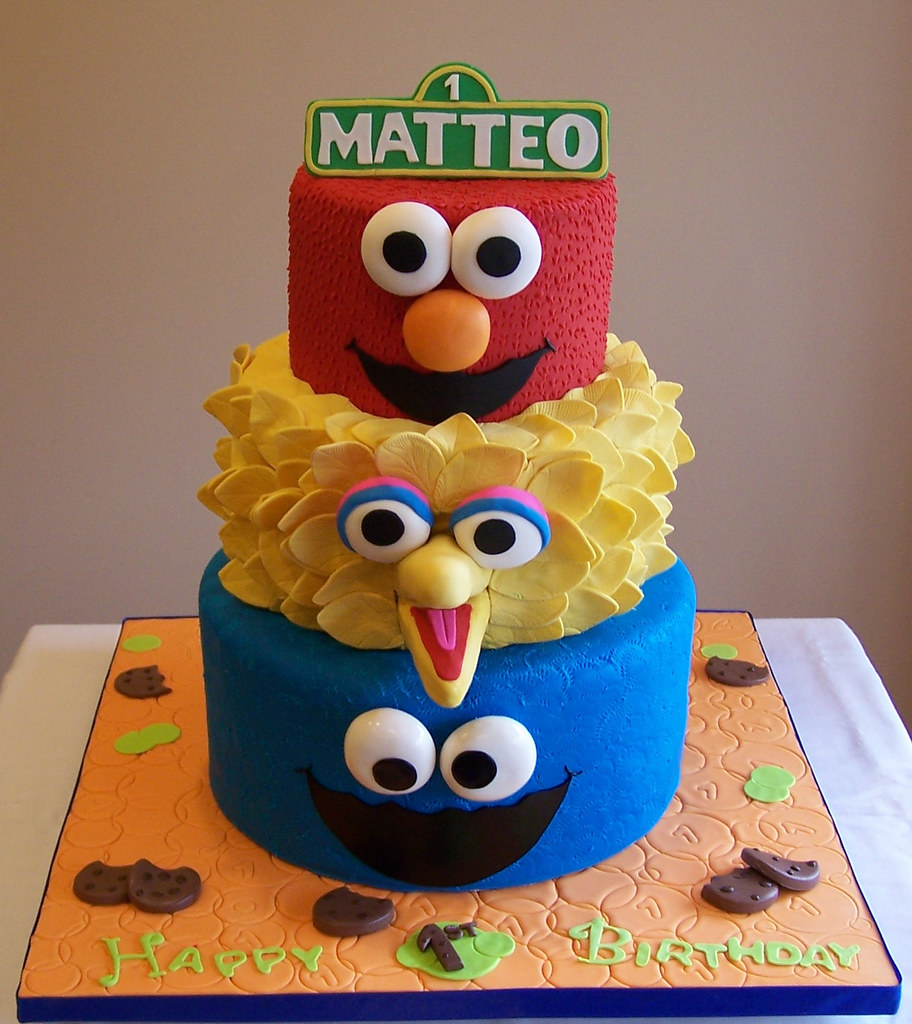 Elmo Big Bird And Cookie Monster Go To Matteo S Party O