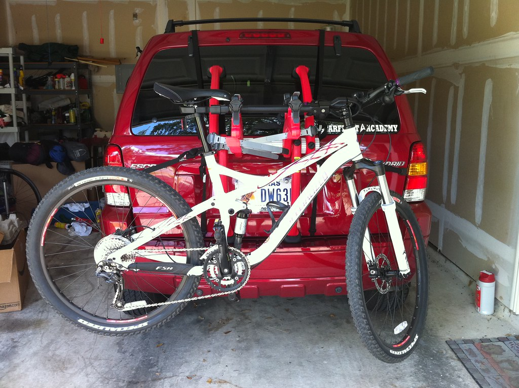 New Bike Rack W Full Suspension Mounted By Ageekmom