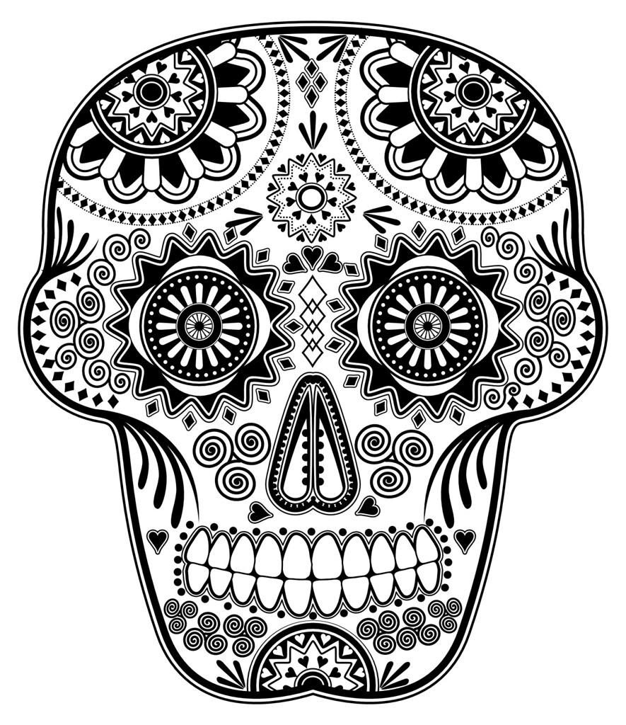 D a de los Muertos Sugar Skull