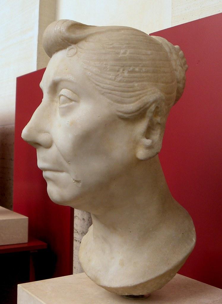 Portrait Of Mature Roman Woman  Portrait Bust Of A Roman -9110