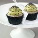 Black Sesame Matcha Cupcakes