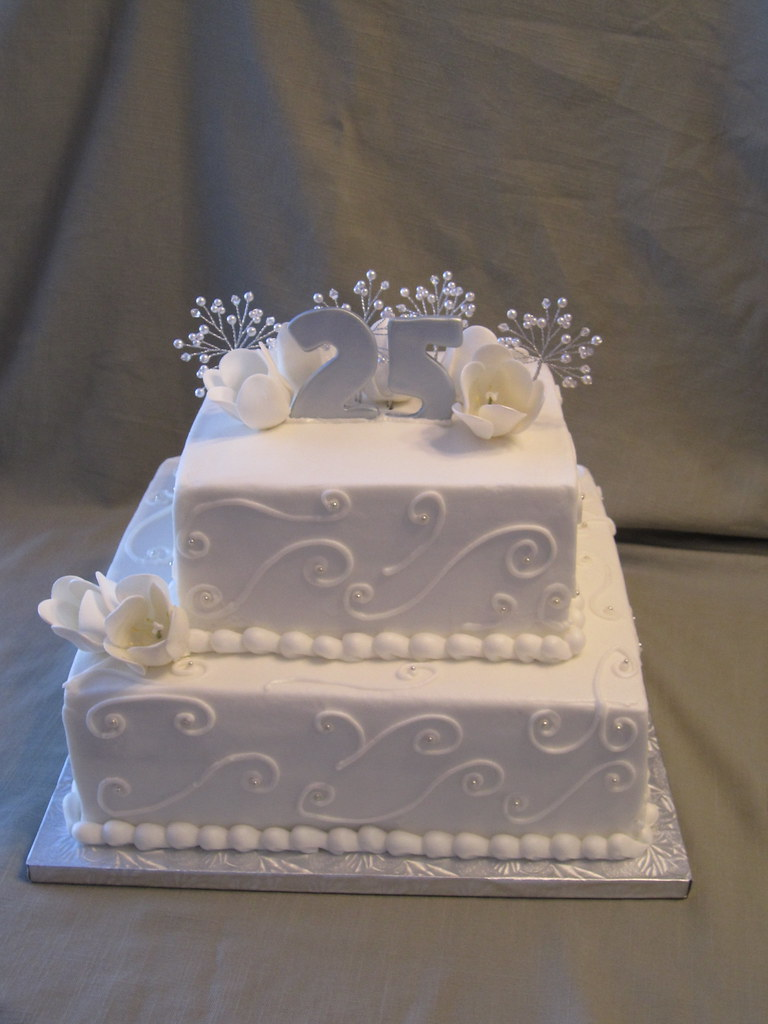 25th Wedding Anniversary Cake A 2 Tier Anniversary Cake