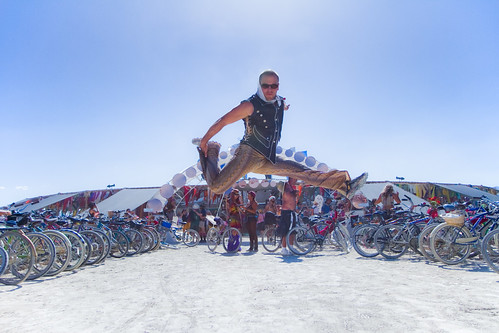Tim Ferriss jumpshot @ Center Camp - Burning Man 2010 | by ►mikehedge.com ♫