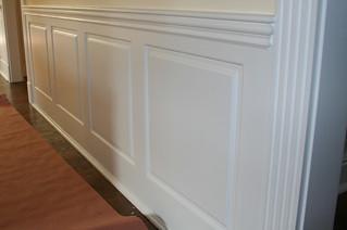 White Raised Panel Kitchen Cabinets