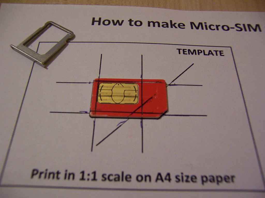 Cutting A Micro Sim Out Of My Mini Sim So It Could Fit I Flickr
