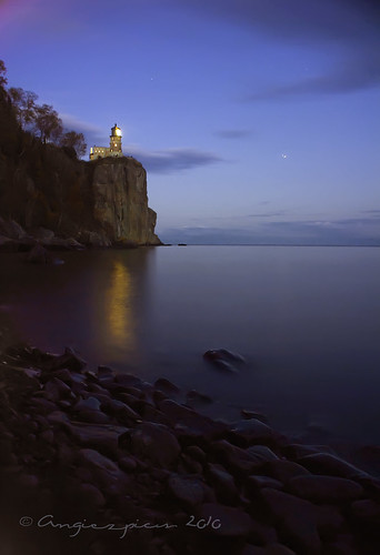 Split Rock Lighthouse all lit up | by Angiezpics