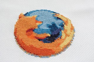 firefox cross stitch | by penguincakes
